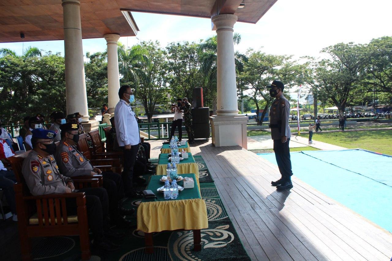 Sekda Provinsi Maluku Utara memimpin Apel Konsolidasi Mitigasi Bencana Alam