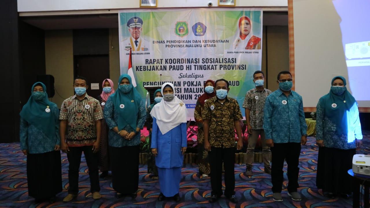 Pokja Bunda PAUD Provinsi Maluku Utara Dikukuhkan